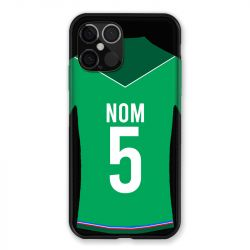 Coque Pour Iphone 12 Pro Max (6.7) Personnalisee Maillot Football AS Saint Etienne
