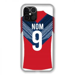 Coque Pour Iphone 12 Pro Max (6.7) Personnalisee Maillot Football LOSC Lille