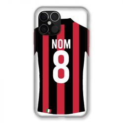 Coque Pour Iphone 12 Pro Max (6.7) Personnalisee Maillot Football Milan AC