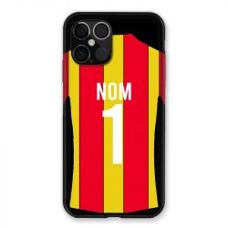 Coque Pour Iphone 12 Pro Max (6.7) Personnalisee Maillot Football RC Lens