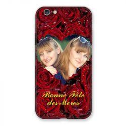 Coque Pour Iphone 6 / 6s Personnalisee Fete Des Meres Roses Rouges