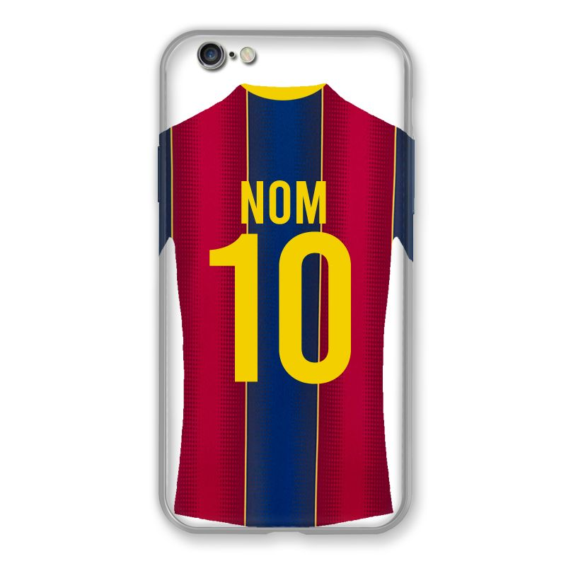 Coque Pour Iphone 6 / 6s Personnalisee Maillot Football FC Barcelone