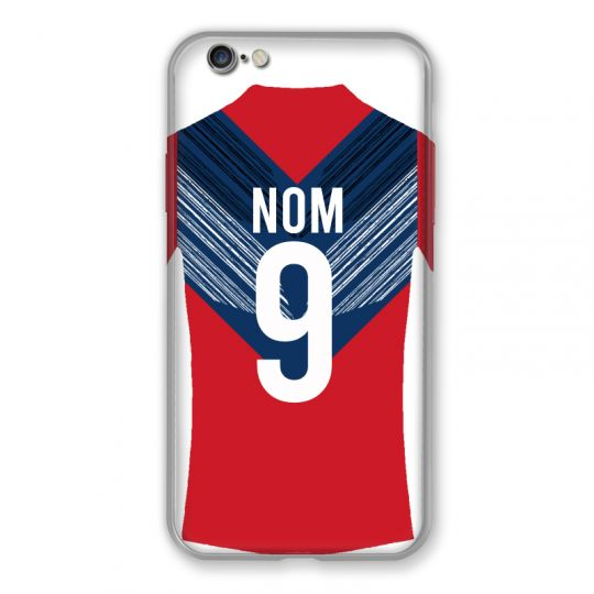 Coque Pour Iphone 6 / 6s Personnalisee Maillot Football LOSC Lille