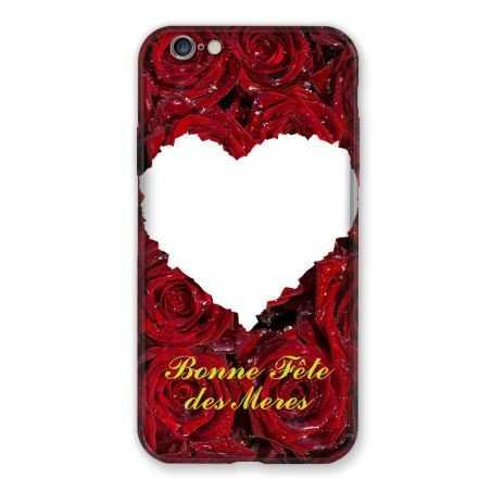 Coque Pour Iphone 7 / 8 / SE (2020) Personnalisee Fete Des Meres Roses Rouges