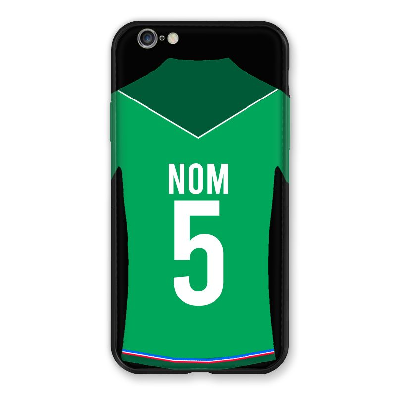 Coque Pour Iphone 7 / 8 / SE (2020) Personnalisee Maillot Football AS Saint Etienne