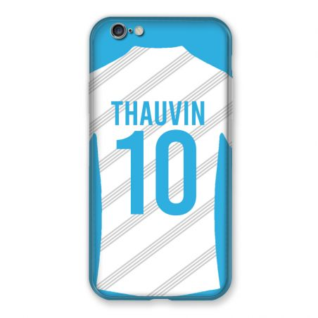 Coque Pour Iphone 7 / 8 / SE (2020) Personnalisee Maillot Football Olympique Marseille Domicile