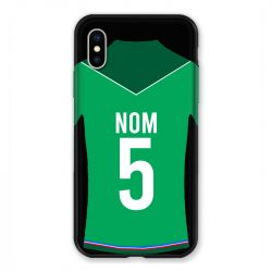 Coque Pour Iphone X / XS Personnalisee Maillot Football AS Saint Etienne