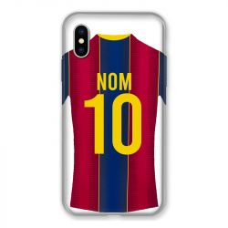 Coque Pour Iphone X / XS Personnalisee Maillot Football FC Barcelone