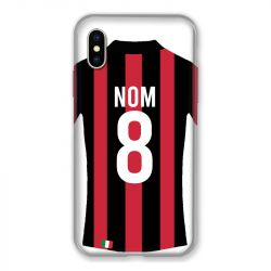 Coque Pour Iphone X / XS Personnalisee Maillot Football Milan AC