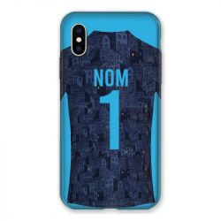 Coque Pour Iphone X / XS Personnalisee Maillot Football Olympique Marseille Exterieur