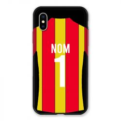 Coque Pour Iphone X / XS Personnalisee Maillot Football RC Lens