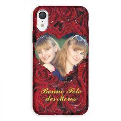 Coque Pour Iphone XR Personnalisee Fete Des Meres Roses Rouges