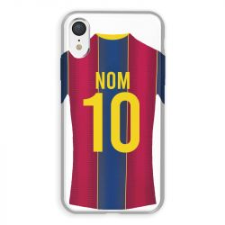 Coque Pour Iphone XR Personnalisee Maillot Football FC Barcelone