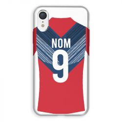 Coque Pour Iphone XR Personnalisee Maillot Football LOSC Lille