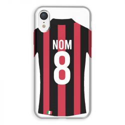 Coque Pour Iphone XR Personnalisee Maillot Football Milan AC