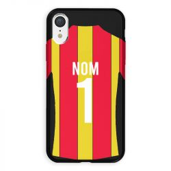 Coque Pour Iphone XR Personnalisee Maillot Football RC Lens