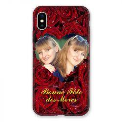 Coque Pour Iphone XS Max Personnalisee Fete Des Meres Roses Rouges
