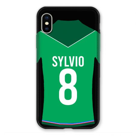 Coque Pour Iphone XS Max Personnalisee Maillot Football AS Saint Etienne