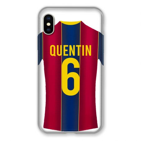 Coque Pour Iphone XS Max Personnalisee Maillot Football FC Barcelone