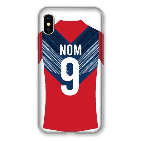Coque Pour Iphone XS Max Personnalisee Maillot Football LOSC Lille