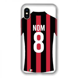 Coque Pour Iphone XS Max Personnalisee Maillot Football Milan AC