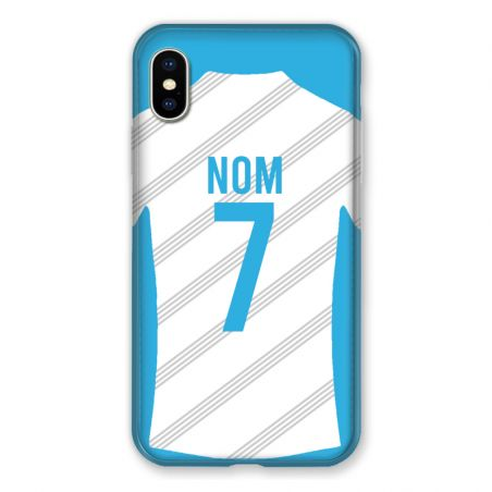 Coque Pour Iphone XS Max Personnalisee Maillot Football Olympique Marseille Domicile