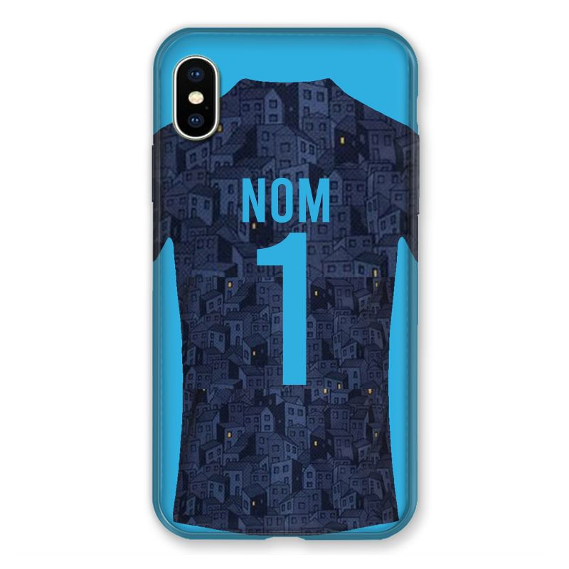 Coque Pour Iphone XS Max Personnalisee Maillot Football Olympique Marseille Exterieur