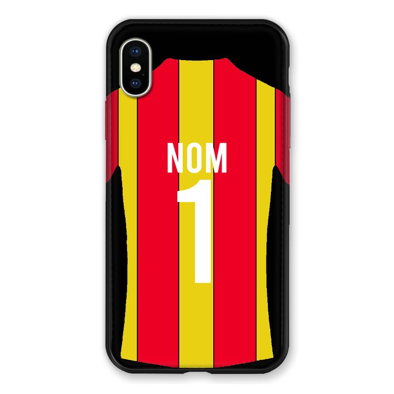 Coque Pour Iphone XS Max Personnalisee Maillot Football RC Lens