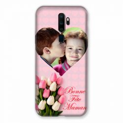 Coque Pour Oppo A9 (2020) Personnalisee Fete Des Meres Coeurs Roses