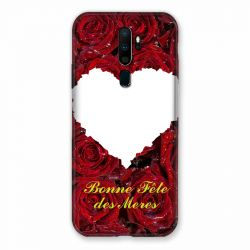 Coque Pour Oppo A9 (2020) Personnalisee Fete Des Meres Roses Rouges