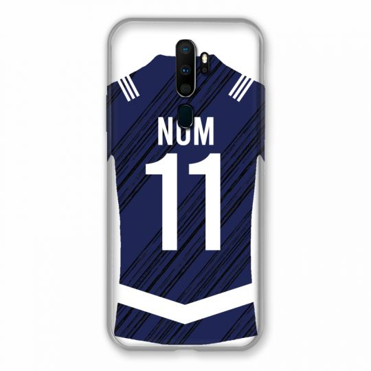 Coque Pour Oppo A9 (2020) Personnalisee Maillot Footbal Girondins Bordeaux