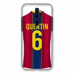 Coque Pour Oppo A9 (2020) Personnalisee Maillot Football FC Barcelone