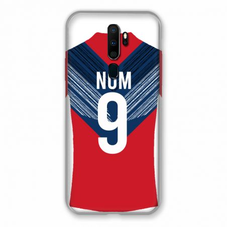 Coque Pour Oppo A9 (2020) Personnalisee Maillot Football LOSC Lille