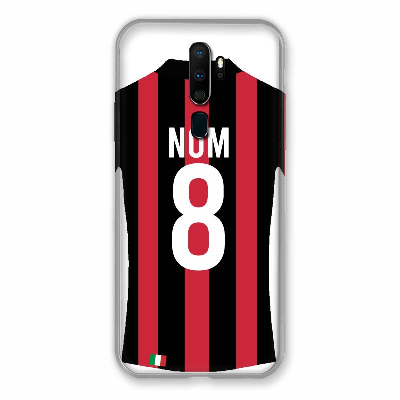 Coque Pour Oppo A9 (2020) Personnalisee Maillot Football Milan AC