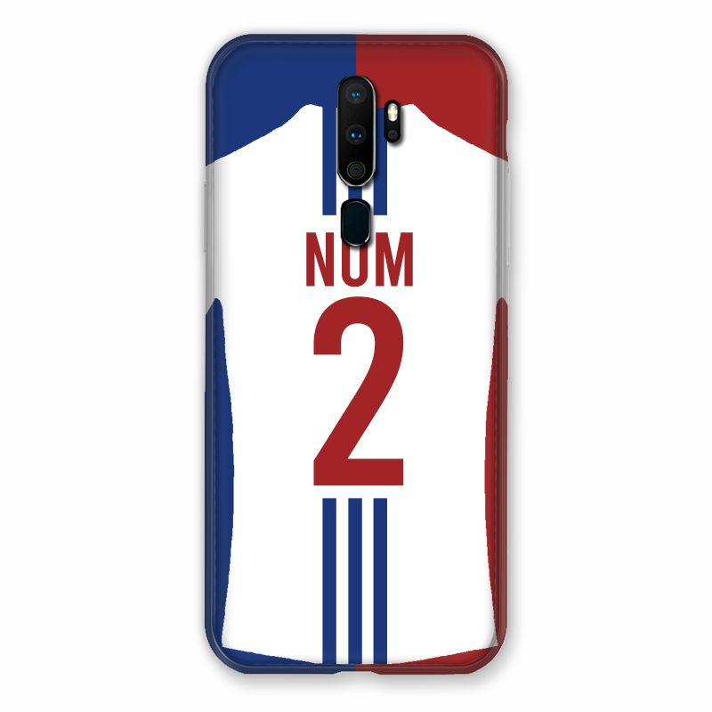 Coque Pour Oppo A9 (2020) Personnalisee Maillot Football Olympique Lyonnais Domicile