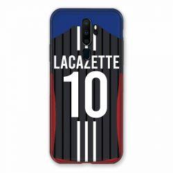 Coque Pour Oppo A9 (2020) Personnalisee Maillot Football Olympique Lyonnais Exterieur