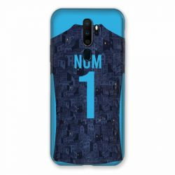 Coque Pour Oppo A9 (2020) Personnalisee Maillot Football Olympique Marseille Exterieur