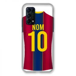 Coque Pour Oppo Find X3 Lite Personnalisee Maillot Football FC Barcelone