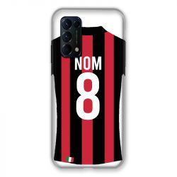 Coque Pour Oppo Find X3 Lite Personnalisee Maillot Football Milan AC