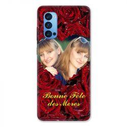 Coque Pour Oppo Reno 4 Pro Personnalisee Fete Des Meres Roses Rouges