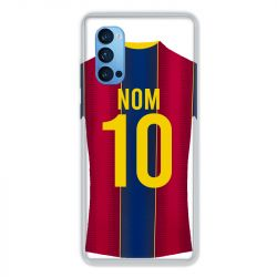 Coque Pour Oppo Reno 4 Pro Personnalisee Maillot Football FC Barcelone