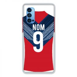 Coque Pour Oppo Reno 4 Pro Personnalisee Maillot Football LOSC Lille