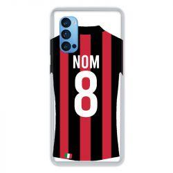 Coque Pour Oppo Reno 4 Pro Personnalisee Maillot Football Milan AC