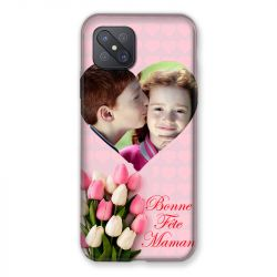Coque Pour Oppo Reno 4Z Personnalisee Fete Des Meres Coeurs Roses