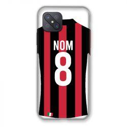 Coque Pour Oppo Reno 4Z Personnalisee Maillot Football Milan AC