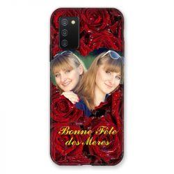 Coque Pour Samsung Galaxy A02S Personnalisee Fete Des Meres Roses Rouges