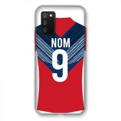 Coque Pour Samsung Galaxy A02S Personnalisee Maillot Football LOSC Lille