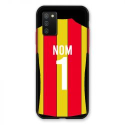 Coque Pour Samsung Galaxy A02S Personnalisee Maillot Football RC Lens