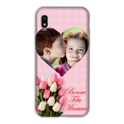 Coque Pour Samsung Galaxy A10 Personnalisee Fete Des Meres Coeurs Roses