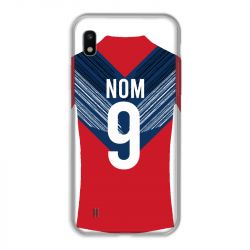 Coque Pour Samsung Galaxy A10 Personnalisee Maillot Football LOSC Lille